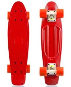 """Скейтборд Fish, размер 22""""*6"""", колеса: 60*45мм  78 - Красный"""
