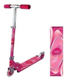 Скутер Olympic, розов., 100 мм PVC светящ., (80%легкосплав., 20% сталь)
