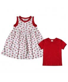NewBorn костюм футболка+сарафан (98) 138-03-71