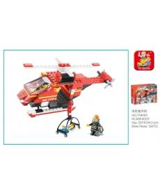 """Конструктор """"Вертолет"""" 155 дет. в/к 25*18,5*4,5 см"""