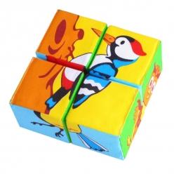 """Игрушка кубики """"Собери картинку""""(Птицы) 6*6 см"""