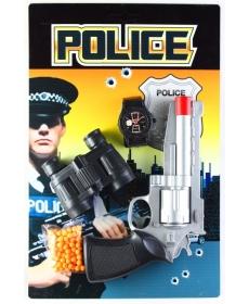 """Игровой набор из серии """"Police"""". В комплекте пистолет, часы, бинокль и пульки."""