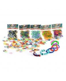Felicita. №7-1 Набор резиночек (более 300 шт) для плетения (10x4,5). (S-образные клипсы в комплекте)