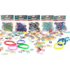 Felicita. №7-3 Набор резиночек (более 300 шт) для плетения (10x4,5). (S-образные клипсы в комплекте)