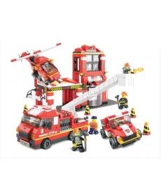 Конструктор пластмассовый Sluban Пожарные спасатели 2831146