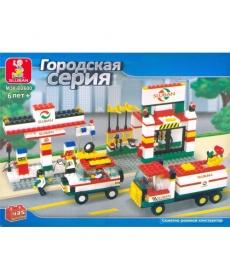 """Конструктор """"Автозаправка"""" 435 дет, в/к 35*27*6,5"""
