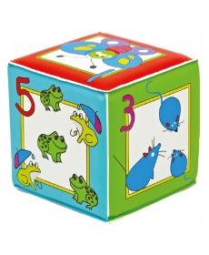 """Мир Детства - Игрушка кубик с пищалкой """"Учимся считать"""""""