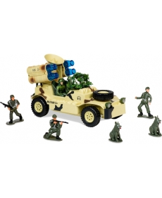 """Р/у игрушка """"Военный джип с радаром и ракет устан"""""""
