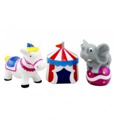 """Мир Детства - Набор игрушек-брызгалок для ванны """"Цирк"""""""