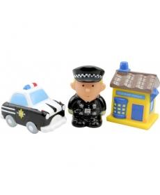 """Мир Детства - Набор игрушек-брызгалок для ванны """"Полиция"""""""