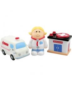 """Мир Детства - Набор игрушек-брызгалок для ванны """"Скорая помощь"""""""