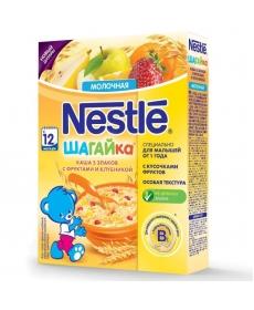 Nestle Каша Молочная пшеничная каша Шагайка с кусочками фруктов и клубники 200г