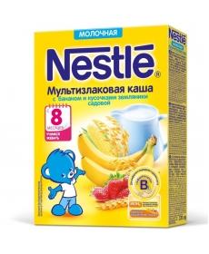 Nestle Каша Молочная Мультизлаковая Банан/Земляника 220г