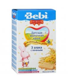 Bebi Каша 200г 3 злака с печеньем