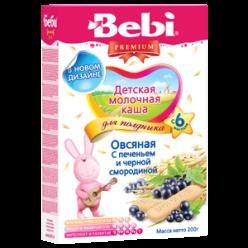 Bebi Молочная Каша - Печенье с черной смородиной 200г