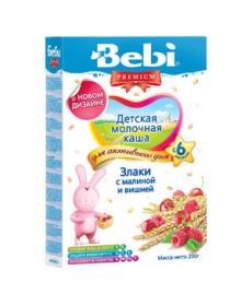 Bebi Молочная Каша - Злаки/Малина/Вишня 200г