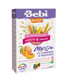 Bebi Молочная Каша - Юниор Мюсли Сливки/Персик 200г