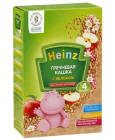 Heinz каша 200г б/м Гречка/Яблоко
