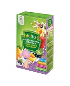 Heinz Каша молочная Лакомая гречневая грушка/абрикос/смородинка