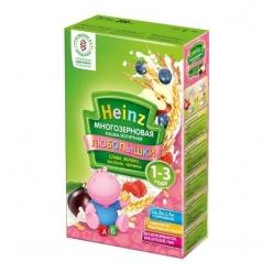 Heinz Каша Любопышки многозерновая фруктово-йогуртная малина/черника 200г