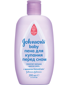 """Johnson & Johnson Пена для купания """"Перед сном"""" 300мл"""