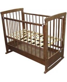 Кроватка детская Мария Ящик/качалка/кр-коричн.С277
