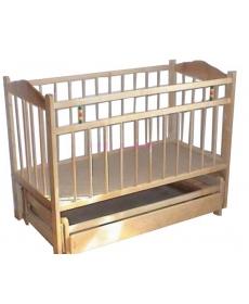 Кроватка детская МИШУТКА-11 маятник Светлая