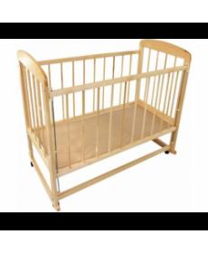 Кроватка детская МИШУТКА-15 (ПВХ) СВЕТЛавто стенка