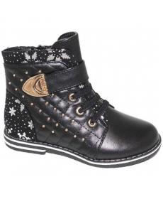 F4404  Ботинки для девочек р.27-32 черный