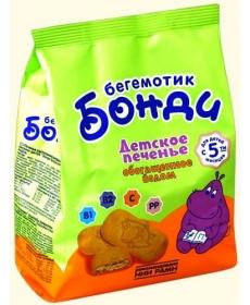 Бонди Бегемотик 180г Печенье с йодом