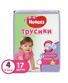 Huggies Подгузники-трусики для девочек (4) 9-14 кг - 17 шт.