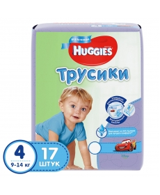 Huggies Подгузники-трусики для мальчиков (4) 9-14 кг - 17 шт
