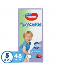 Huggies Подгузники-трусики для мальчиков (5) 13-17 кг - 48 шт.