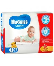 Huggies Classic Подгузники (3) 4- 9кг - 78 шт