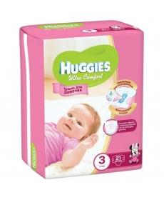 Huggies Ultra Comfort Подгузники для девочек (3) 5-9 кг - 21 шт