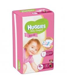 Huggies Ultra Comfort Подгузники для девочек (4) 10-16 кг - 17 шт
