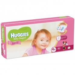 Huggies Ultra Comfort Подгузники для девочек (4) 10-16 кг - 60 шт