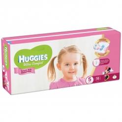 Huggies Ultra Comfort Подгузники для девочек (5) 12-22 кг - 56 шт