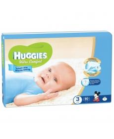 Huggies Ultra Comfort Подгузники для мальчиков (3) 5-9 кг - 80 шт