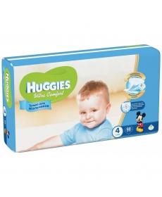 Huggies Ultra Comfort Подгузники для мальчиков (4) 8-14 кг - 66 шт
