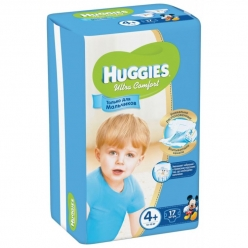 Huggies Ultra Comfort для мальчиков 4+ 10-16кг 17шт