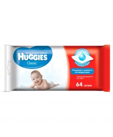 Huggies Влажные салфетки Classic 64шт