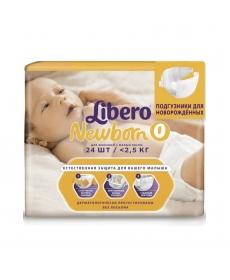 Libero Newborn (0) 2,5 кг 24 шт