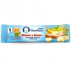 Gerber ДоРеМи Фруктовый Батончик - Яблоко и Банан 25г