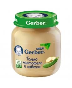 Gerber пюре 130г Картофель/Кабачок