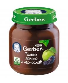 Gerber пюре 130г Яблоко/Чернослив