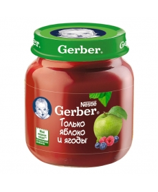 Gerber пюре 130г Яблоко/Лесные ягоды