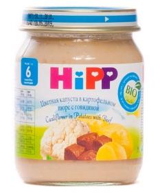 HIPP Пюре 125г Цветная капуста/Картофель/Говядина
