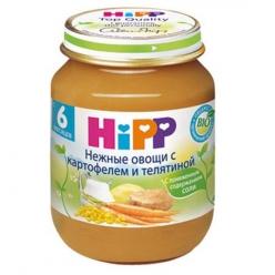 HIPP Пюре 125г Нежные овощи/Картофель/Телятина