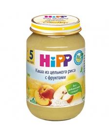 HIPP Пюре 190г Каша из цельного риса с фруктами